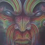 Shannon -Ta Moko, Maori Tattoo, Whakairo, Maori Carvings, Paintings, Maori art in Waitomo New Zealand